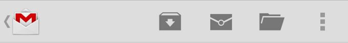 Android ActionBar with options menu.
