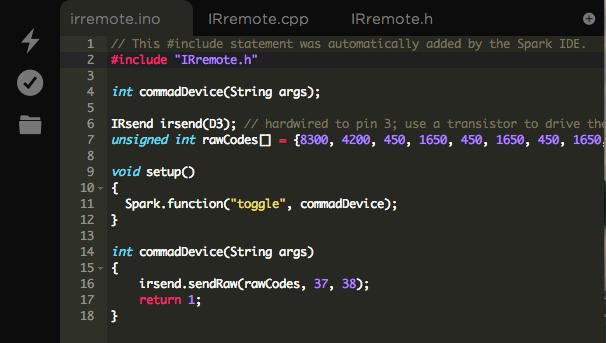 Example code.